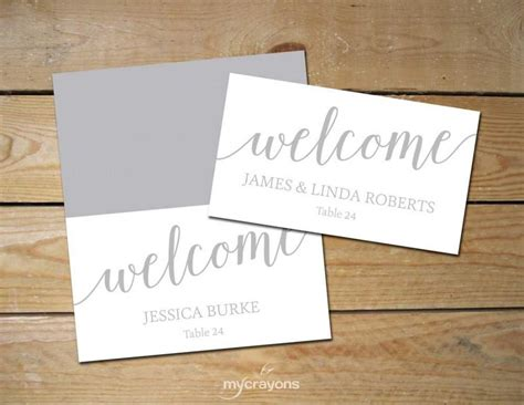 diy place cards printable place cards silver diy place cards grey