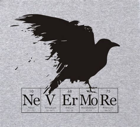 T Shirt Nevermore 4 nevermore screened gray shirt by elementees on etsy