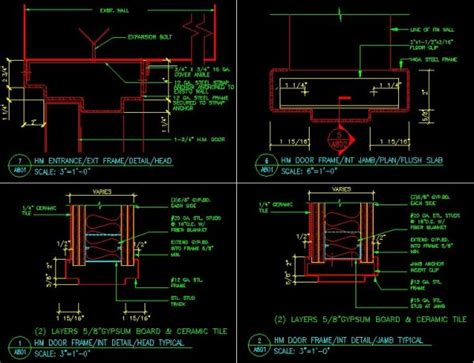 door jamb details cad library autocad blocks autocad symbols cad drawings architecture