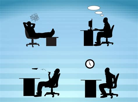 ufficio lavoro ufficio lavoro quotidiano sagome vettore scaricare