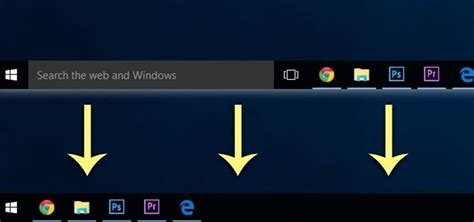windows top bar how to get rid of the search bar task view button in the