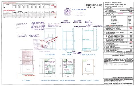 Model Drawing Bhopal Municipal Corporation House Construction Plan Approval Bangalore