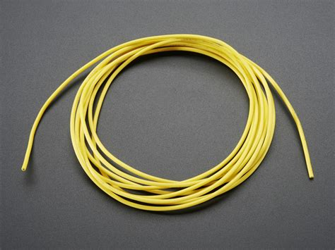 silicone cover stranded wire 2m 26awg yellow id