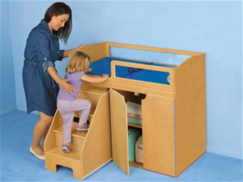 toddler changing table step on up toddler changing table at lakeshore learning
