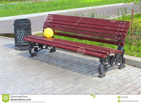 childrens park bench balloon on a park bench royalty free stock images image