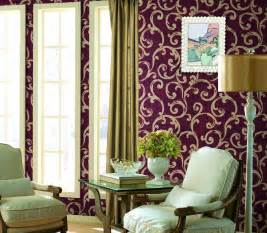 purple wallpaper with silver flower for living room quotes