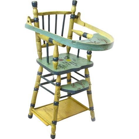 convertible high chair to table and chair convertible doll high chair with game table ca 1935 40