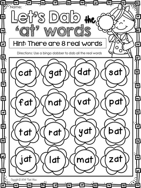 printable nonsense word games word work cvc word family freebie your students will love