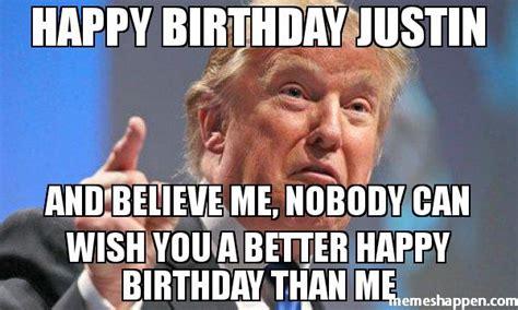 Justin Bieber Happy Birthday Meme