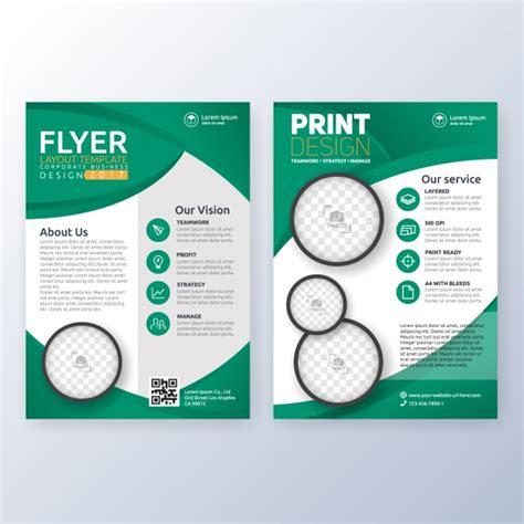 Web Brochure Templates by Brochure Template Design Vector Free