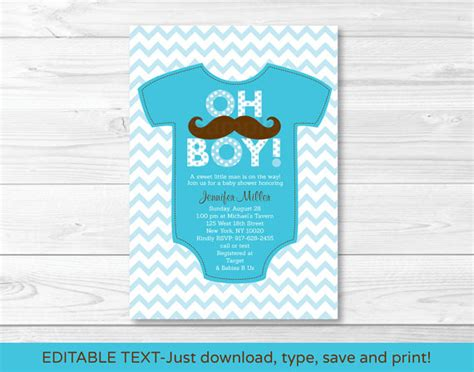 editable templates for baby shower invitations size the invitation is 5x7 inches formatted to print on