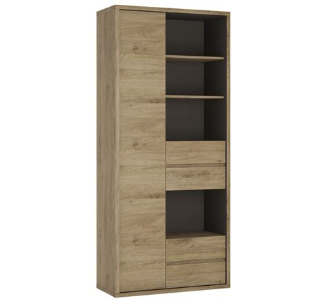 Wide Bookcase With Drawers Abdabs Furniture Shetland Wide 1 Door 4 Drawer Bookcase