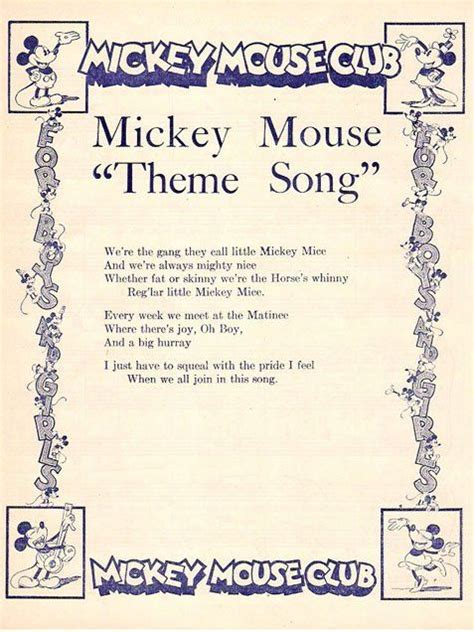 song lyrics mickey mouse 17 images about antique quot mickey mouse quot friends on