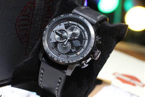 Jam Tangan Pria Cowok Harley Davidson Hd Chrono Leather Brown jual jam tangan elegan harley davidson chrono