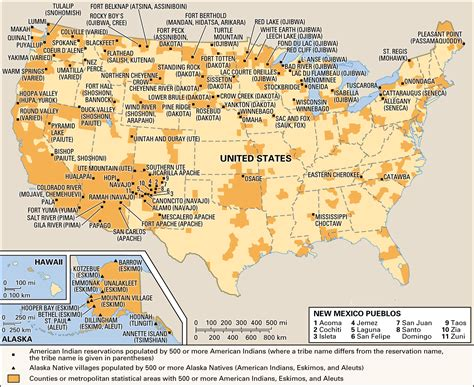 american reservations map americans