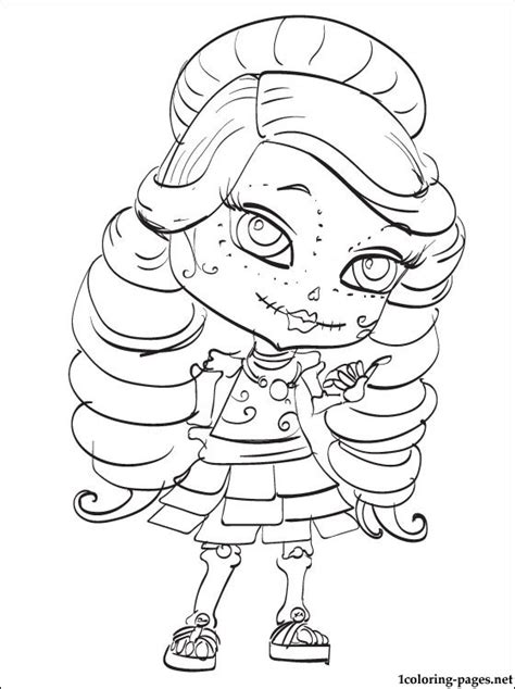 monster high skelita calaveras coloring pages skelita calaveras monster high doll coloring pages