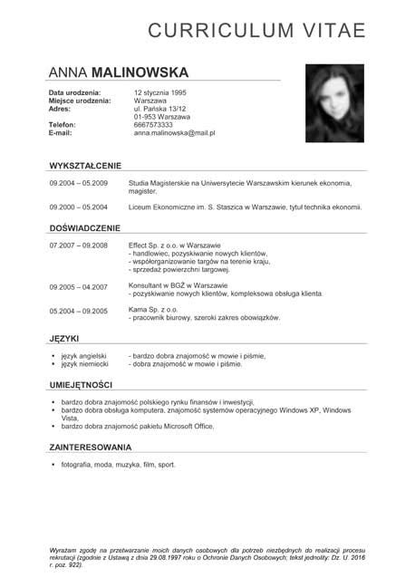 format zdjecia cv cv wzory kreator do formatu pdf picture to pin on