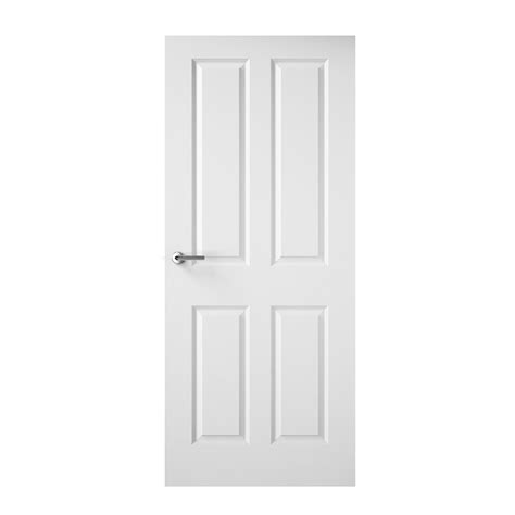 moulded smooth 4 panel door