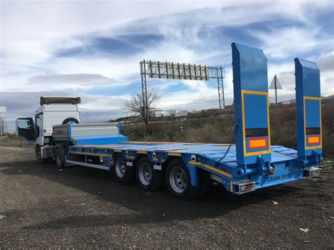 new ozsan trailer 3 axle low bed ozs l3 low bed semi