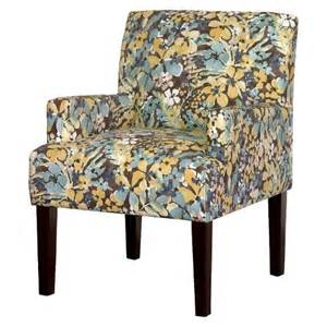 Yellow Patterned Armchair Dolce Upholstered Arm Chair Blue Yellow Floral Target