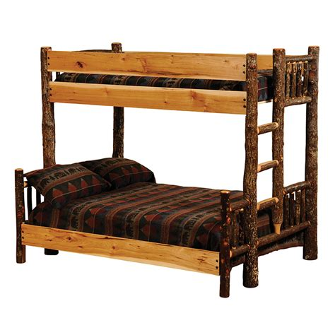queen and twin bunk bed hickory twin queen bunk bed ladder left