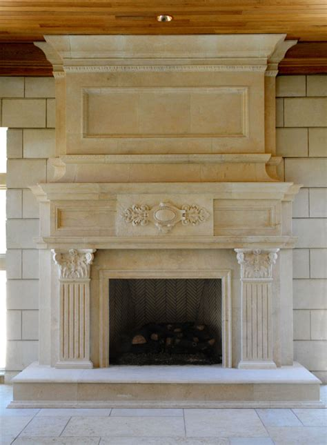 large fireplace mantels large limestone fireplace mantel