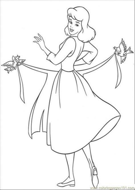 cinderella birds coloring pages birds help cinderella to use her apron
