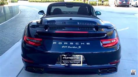 navy blue porsche convertible 2017 blue porsche 911 turbo s cabriolet 580 hp