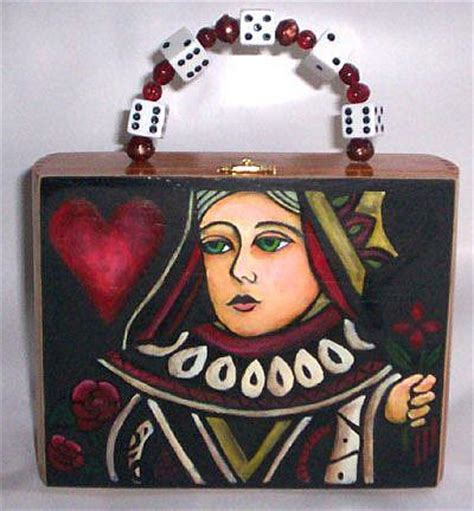 queens purse queen of hearts cigar box purse by april from a a fontaine