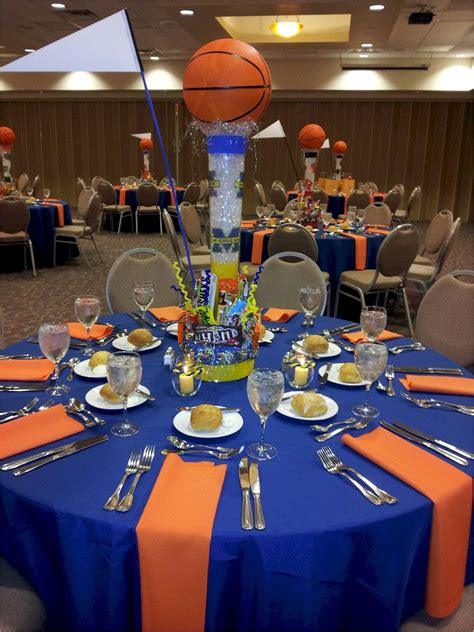 banquet party favors idea of how to set up table cloths for both grad or baseball banquet work bar mitzvah