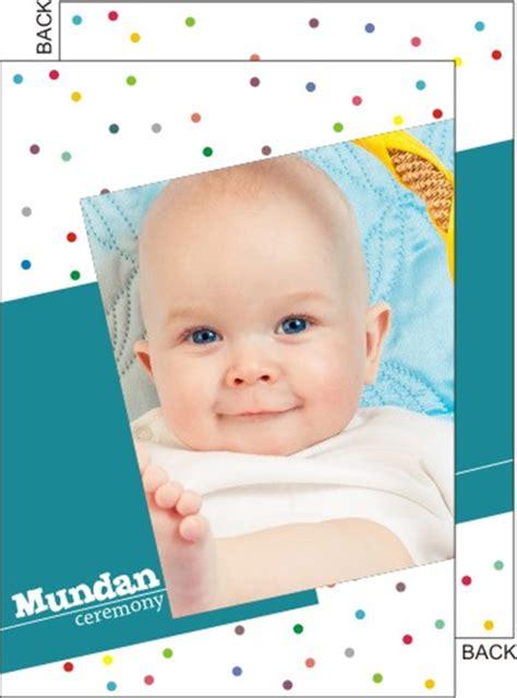 Mundan ceremony invitation cards   Choose designs and