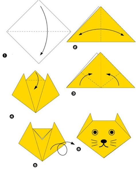 Easy Origami Cat - simple origami for and their parents selection of