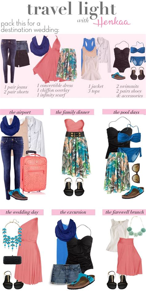 wardrobe oxygen what to pack for vacation travel light destination wedding packing list travel
