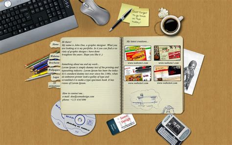 contoh layout portfolio mengenal tentang seputar portofolio desainer grafis