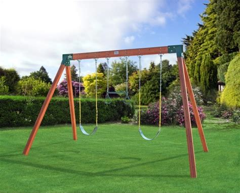 swing set swings eastern jungle gym classic a frame cedar swing set with