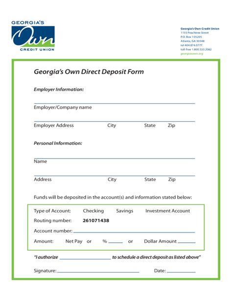 direct deposit form s own direct deposit form free