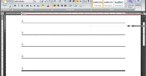 Cara Membuat Garis Undangan Di Ms Word | cara membuat garis undangan di word yaqindlive cara