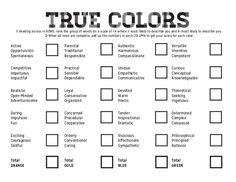 mtg color quiz true colors personality test printable personality test
