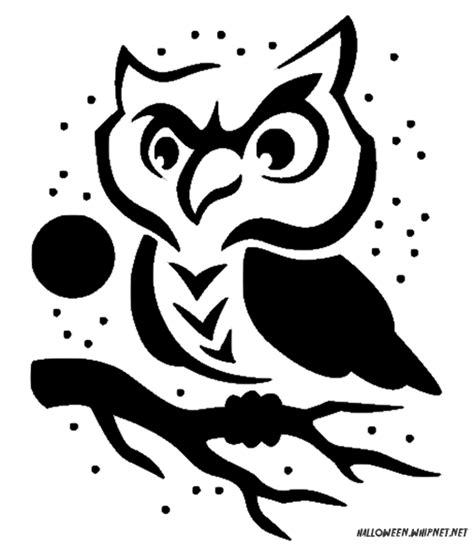 printable owl stencils owl template for pumpkin carving halloween pinterest