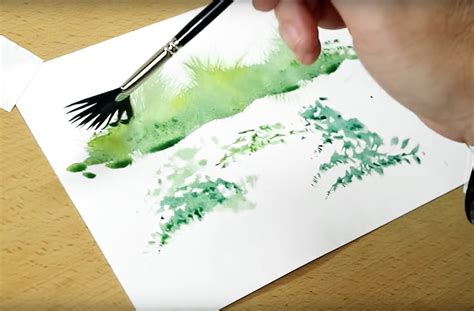 fan brush painting 4 clever watercolor techniques a fan brush pics