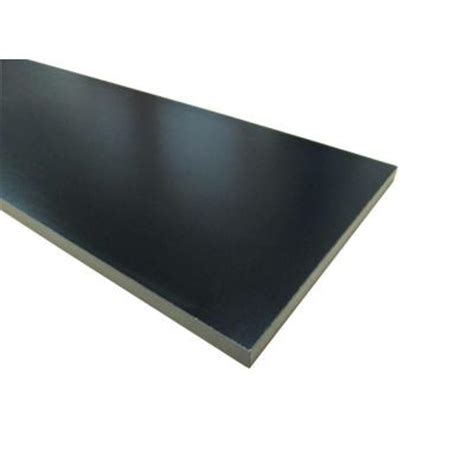 Black Melamine Shelf by 3 4 In X 16 In X 97 In Black Thermally Fused Melamine