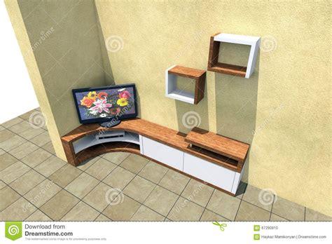 tv set 3d stock illustration image 67290810
