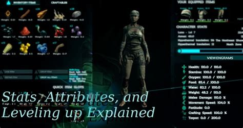 Hairstyles Inventory A Dota by Ark Survival Evolved Guide Stats Attributes And