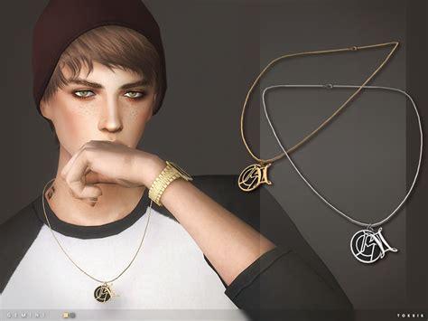 sims 4 mens earrings toksik gemini necklace