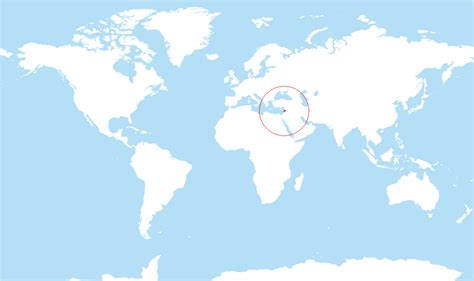 lebanon on the world map where is lebanon located on the world map