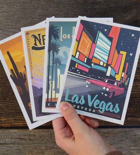 Postcard Set explore america vintage style postcard set cards