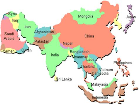 the map of asia countries mensa trivia yesterday s answer today s question