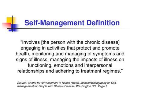 management description ppt chronic disease self management powerpoint