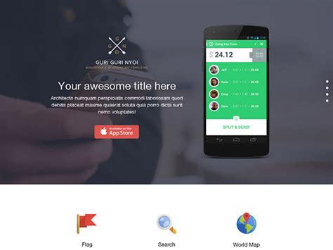 bootstrap one page template bootstrap 3 single page template ipixel creative