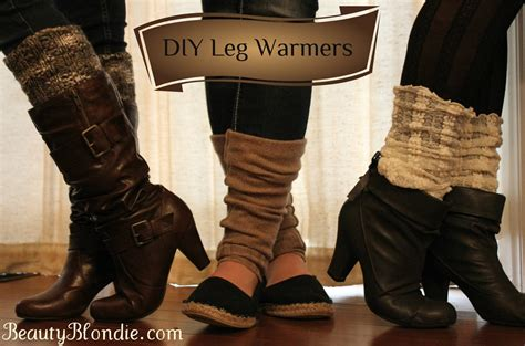 diy warmers diy leg warmers in less than a minute